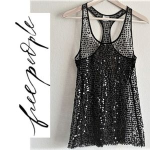Free people sequence black tank top